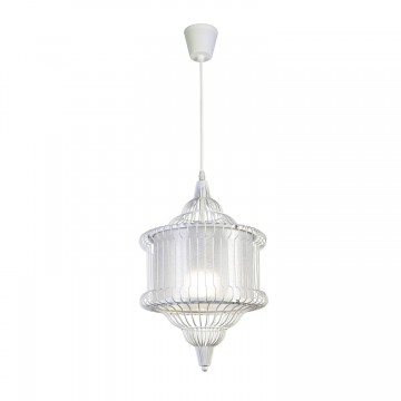 Подвесной светильник Favourite Zauber 1880-1P SALE, 1xE27x60W, белый, металл, текстиль