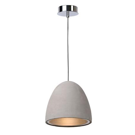 Подвесной светильник Lucide Solo 71437/21/41 SALE, 1xE27x15W, хром, серый, металл, бетон