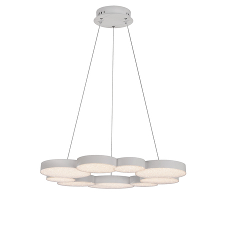 Подвесная люстра Mantra Lunas 5760, белый, матовый, металл, пластик