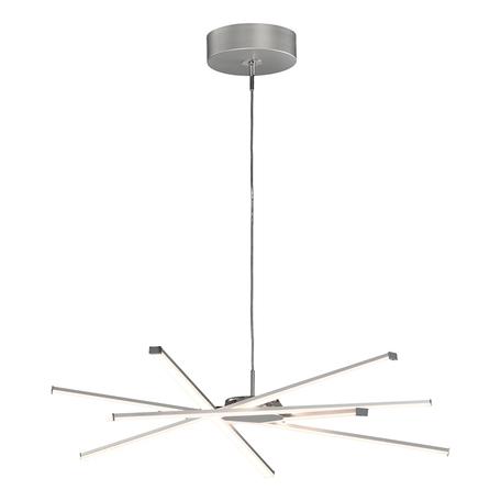 Подвесная люстра Mantra Star LED 5913, матовый хром, белый, металл, пластик