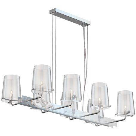 Подвесная люстра Maytoni Landmark MOD040PL-08CH, 8xG9x28W, хром, прозрачный, металл, стекло