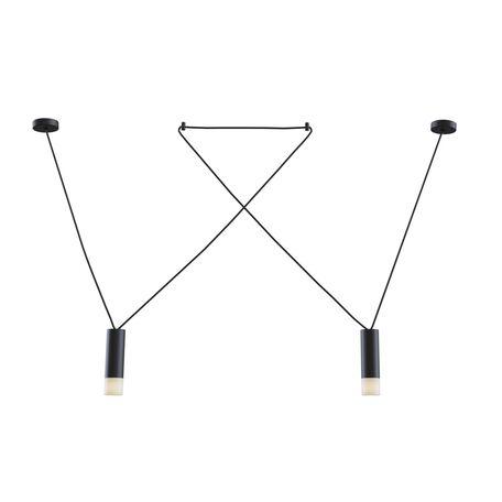 Подвесной светильник Maytoni Davida MOD035PL-02B, 2xG9x6W, черный, черно-белый, металл, металл с пластиком