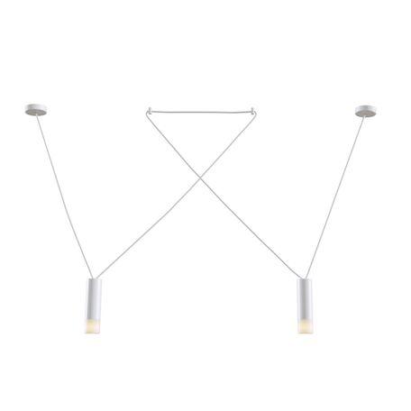 Подвесной светильник Maytoni Davida MOD035PL-02W, 2xG9x6W, белый, металл, металл со стеклом/пластиком