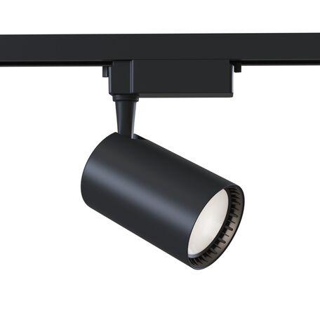 Светодиодный светильник для шинной системы Maytoni Single Phase Track System Lamps TR003-1-30W3K-B, LED 30W 3000K 2400lm CRI80, черный, металл