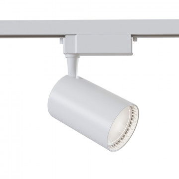 Светодиодный светильник для шинной системы Maytoni Single Phase Track System Lamps TR003-1-30W3K-W, LED 30W 3000K 2400lm CRI80, белый, металл