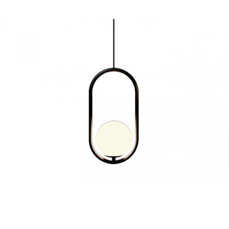 Подвесной светильник Kink Light Кенти 07631-1A,19, 1xE14x40W, черный, белый, металл, стекло
