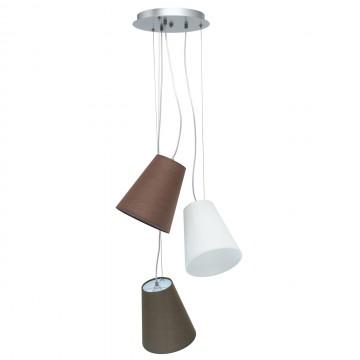 Люстра-каскад MW-Light Эйберген 723010203, 3xE27x40W, хром, коричневый, металл, текстиль
