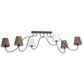 Потолочная люстра с регулировкой направления света MW-Light Эйберген 723010106, 6xE14x40W, черный, коричневый, металл, текстиль