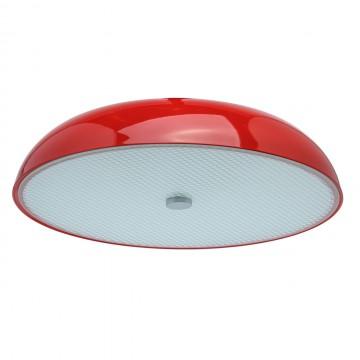 Потолочный светильник MW-Light Канапе 708010305, 5xE27x60W, красный, матовый, металл, стекло