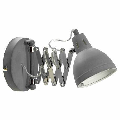 Светильник Lussole Loft Koyukuk LSP-8050V, IP21, 1xE14x40W, серый с хромом, серый, металл