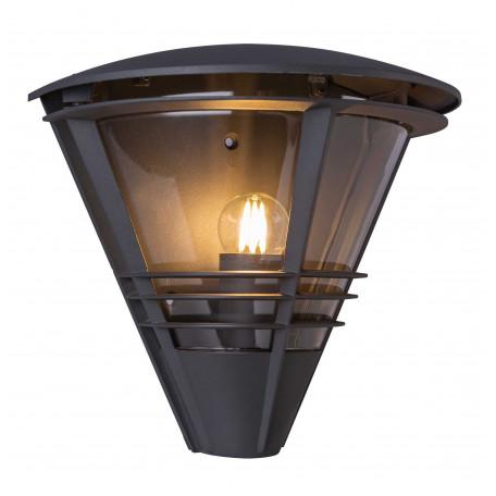 Настенный фонарь Globo Salla 32093A, IP44, 1xE27x60W, темно-серый, металл, пластик