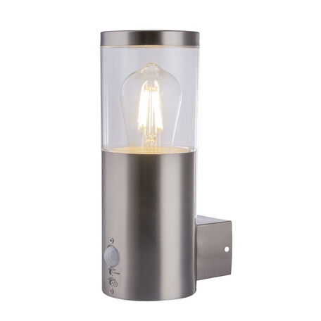 Настенный светильник Globo Lalli 34019S, IP44, 1xE27x60W, никель, прозрачный, металл, пластик