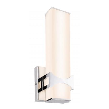 Настенный светодиодный светильник Globo Cadiz 41507-12, IP44, LED 12W, хром, белый, металл, стекло