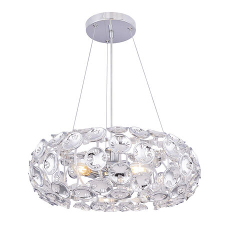 Подвесной светильник Globo Luggo 51500-3H, 3xE14x40W, хром, металл, пластик