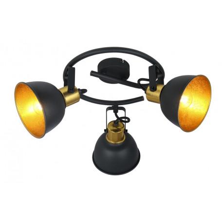 Потолочная люстра Globo Fillo 54655-3, 3xE14x25W, черный, черный с золотом, металл