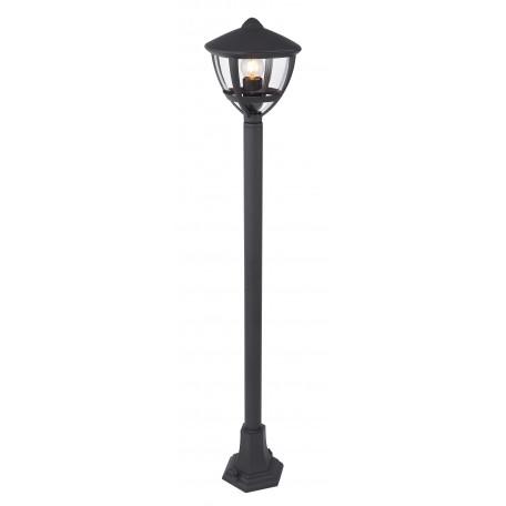 Уличный фонарь Globo Nollo 31998, IP44, 1xE27x40W, черный, металл, пластик
