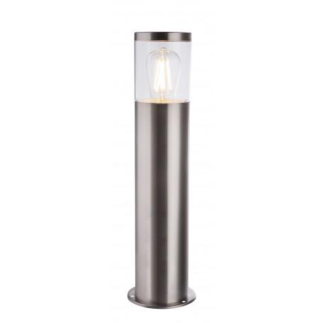 Уличный фонарь Globo Lalli 34019S1, IP44, 1xE27x60W, никель, прозрачный, металл, пластик
