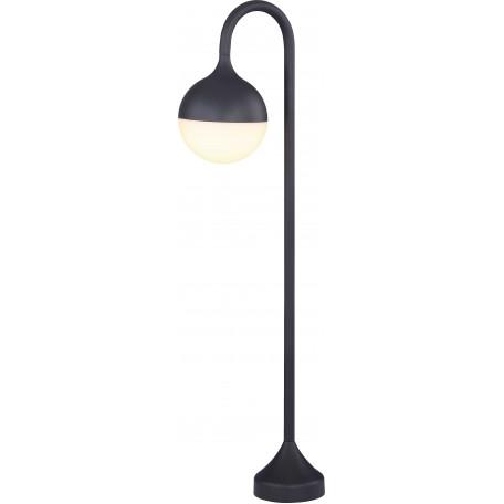 Уличный светодиодный фонарь Globo Almeria 34592, IP44, LED 10,2W, темно-серый, белый, металл, пластик