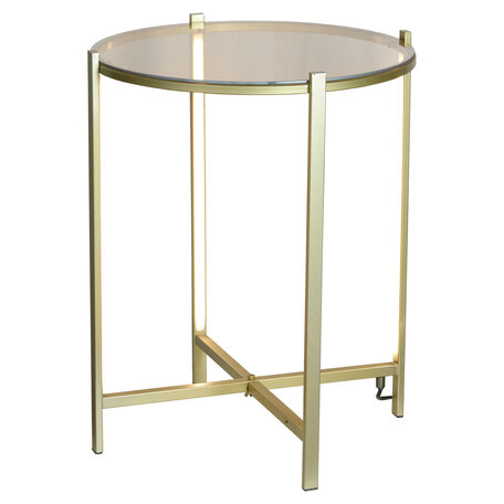 Стол с подсветкой Lussole Loft Seattle LSP-0566, IP21, LED 10W 3000K 1080lm, бронза с прозрачным, металл со стеклом