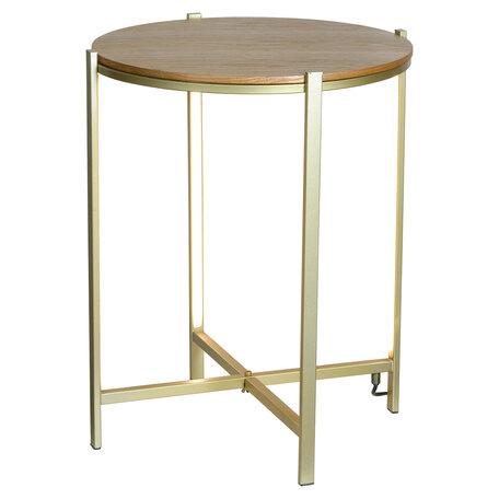 Стол с подсветкой Lussole Loft Seattle LSP-0567, IP21, LED 10W 3000K 1080lm, бронза с коричневым, металл с деревом