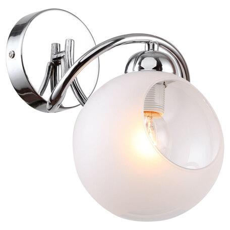 Светильник Lussole LGO Iliamna LSP-8141V, IP21, 1xE14x40W, хром, белый, металл, стекло