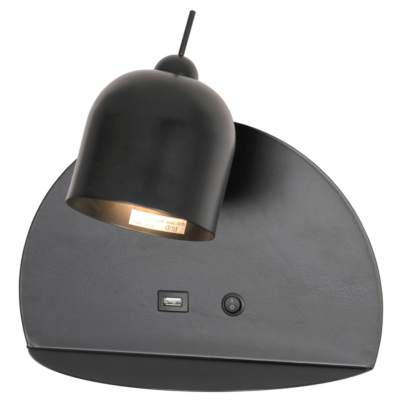 Светильник с полкой Lussole LGO Cozy LSP-8232V, IP21, 1xG9x40W, черный, металл - фото 1