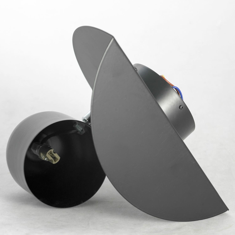 Светильник с полкой Lussole LGO Cozy LSP-8232V, IP21, 1xG9x40W, черный, металл - фото 3