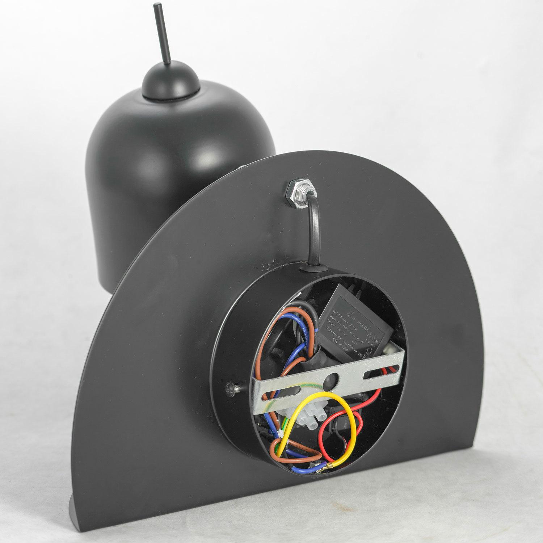 Светильник с полкой Lussole LGO Cozy LSP-8232V, IP21, 1xG9x40W, черный, металл - фото 4