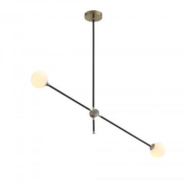 Потолочный светильник с регулировкой направления света ST Luce Bastoncino SL429.403.02, 2xG9x40W, черный, белый, металл, стекло