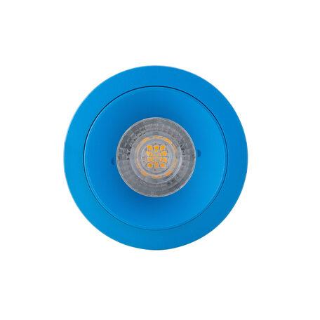 Встраиваемый светильник Denkirs DK2026-AZ, 1xGU10x50W, голубой, металл