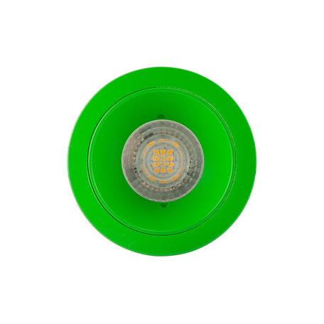 Встраиваемый светильник Denkirs DK2026-GR, 1xGU10x50W, зеленый, металл