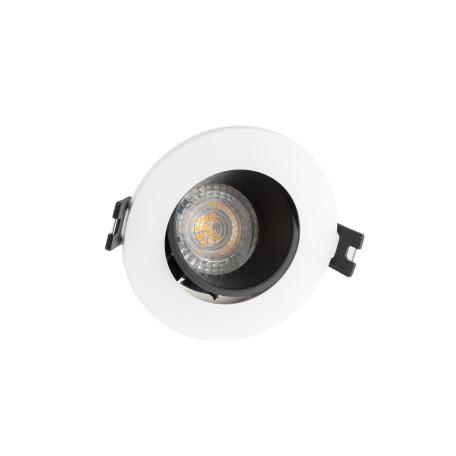 Встраиваемый светильник с регулировкой направления света Denkirs DK3020-WB, 1xGU5.3x10W, белый с черным, пластик