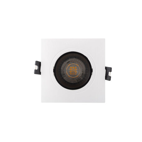 Встраиваемый светильник с регулировкой направления света Denkirs DK3021-WB, 1xGU5.3x10W, белый с черным, пластик