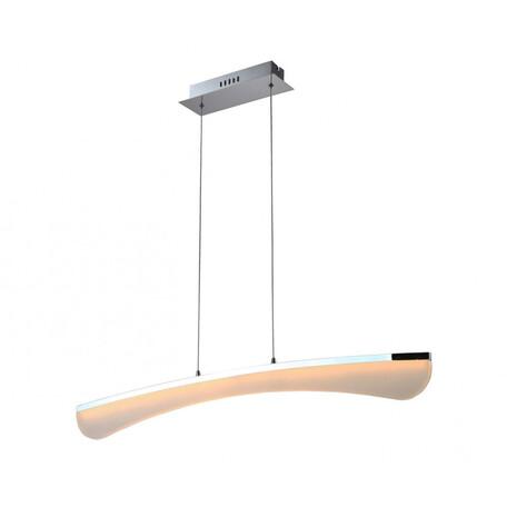 Подвесной светодиодный светильник Kink Light Рива 08000, LED 20W 3500K 1700lm CRI>80, хром, белый, металл, пластик