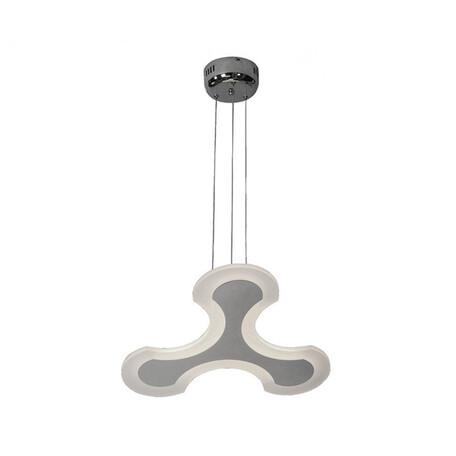 Подвесной светодиодный светильник Kink Light Зодиак 08159, LED 24,6W 4000K 1230lm CRI>80, хром, белый, металл, металл с пластиком
