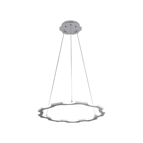 Подвесной светодиодный светильник Kink Light Тор-Байт 08502,01, LED 60W 4000K 5400lm CRI>80, белый, металл, металл со стеклом/пластиком
