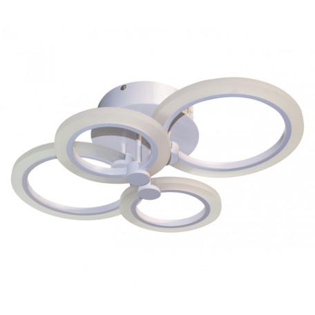 Потолочная светодиодная люстра с пультом ДУ Kink Light Сага New 07817, LED 52W 3000-6000K 2520lm CRI>80, белый, металл, металл с пластиком