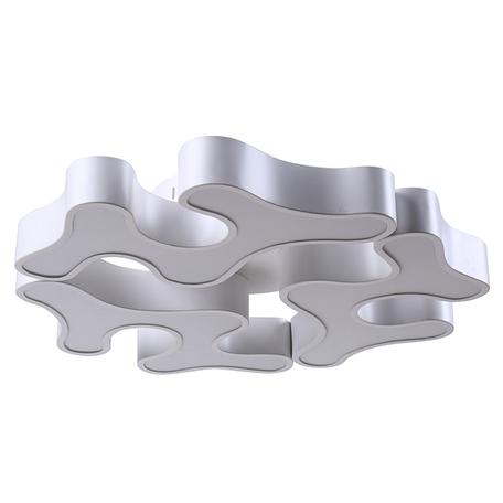Потолочная светодиодная люстра Kink Light Клякса 078260, LED 87W 3000-6000K 5220lm CRI>80, белый, металл, металл со стеклом/пластиком