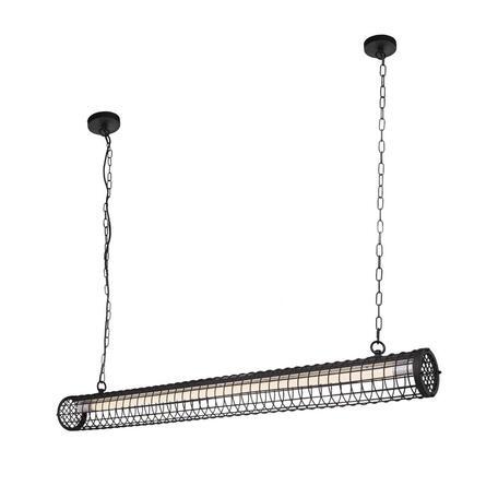 Подвесной светильник Loft It Office LOFT1702BK, 1xG13T8, черный, металл
