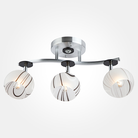 Потолочный светильник Eurosvet Polo 9643/3 алюминий/белый, 3xE27x60W, алюминий, белый, металл, стекло