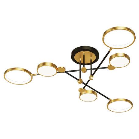 Светодиодный светильник Lussole Loft Gilbert LSP-8433, IP21, LED 60W, черный с золотом, золото с черным, золото с белым, металл, пластик