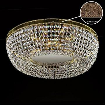 Потолочная люстра Artglass SOFIA DIA 550 LIGHT PATINA SP, 9xE14x40W, кристаллы SPECTRA Swarovski