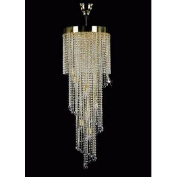 Люстра-каскад Artglass SPIRAL 400x1200 BALLS CE, 12xE14x40W, хрусталь Asfour