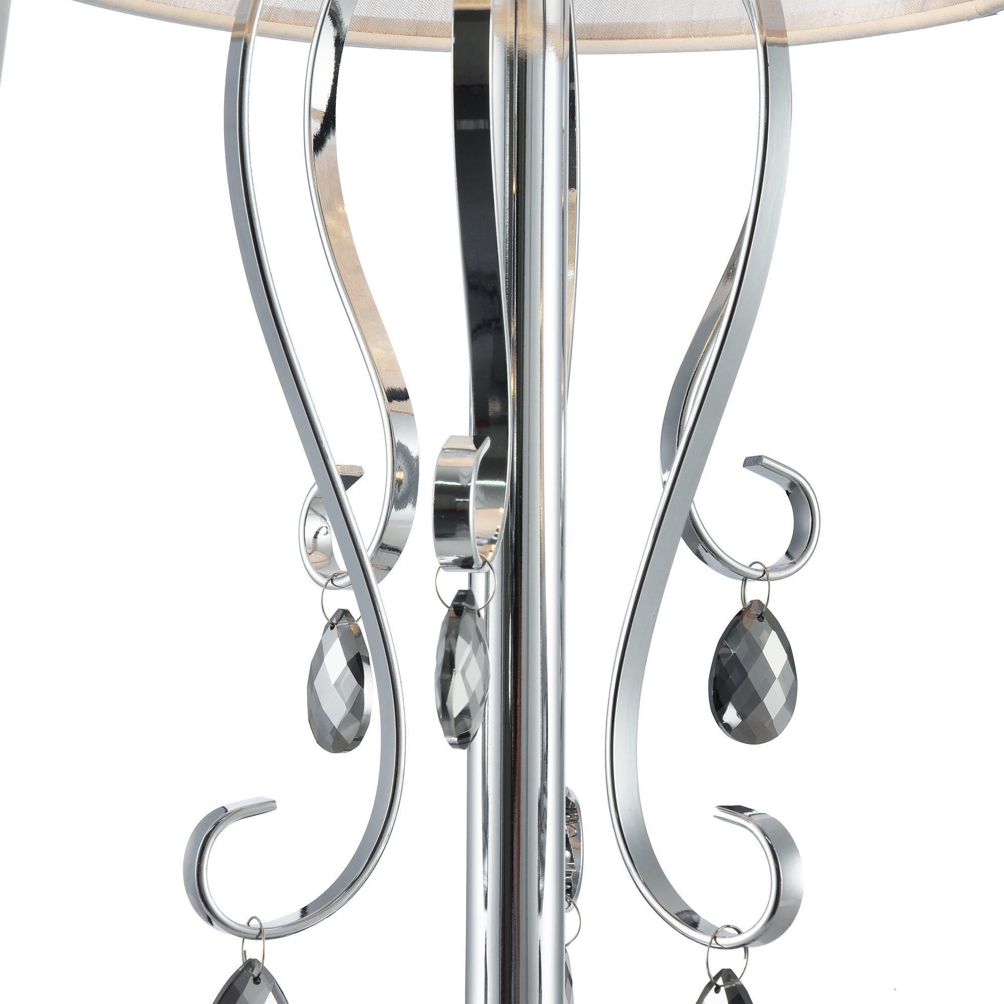 Настольная лампа Freya Simone FR2020-TL-01-CH, 1xE14x40W, хром, серебро, прозрачный, металл, текстиль, хрусталь - фото 10