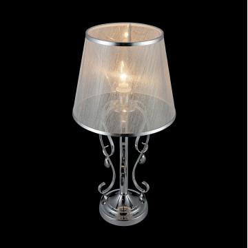 Настольная лампа Freya Simone FR2020-TL-01-CH, 1xE14x40W, хром, серебро, прозрачный, металл, текстиль, хрусталь - миниатюра 6