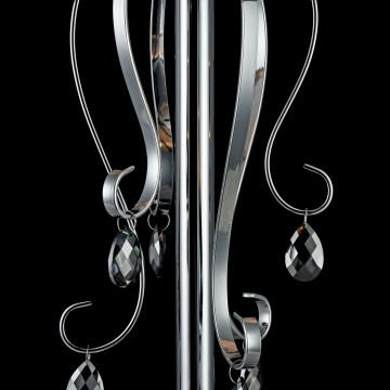 Настольная лампа Freya Simone FR2020-TL-01-CH, 1xE14x40W, хром, серебро, прозрачный, металл, текстиль, хрусталь - миниатюра 7
