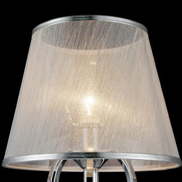 Настольная лампа Freya Simone FR2020-TL-01-CH, 1xE14x40W, хром, серебро, прозрачный, металл, текстиль, хрусталь - миниатюра 8