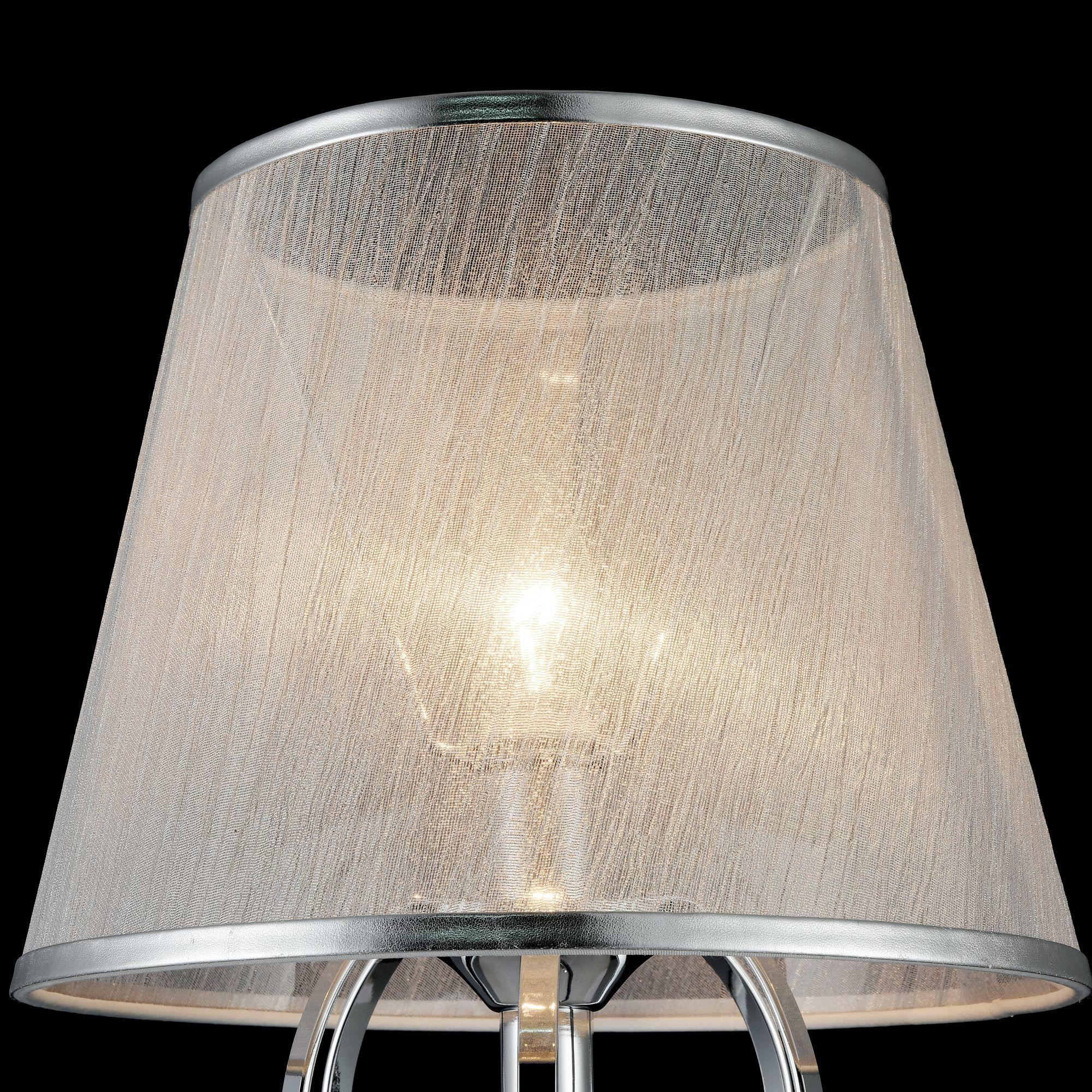 Настольная лампа Freya Simone FR2020-TL-01-CH, 1xE14x40W, хром, серебро, прозрачный, металл, текстиль, хрусталь - фото 8