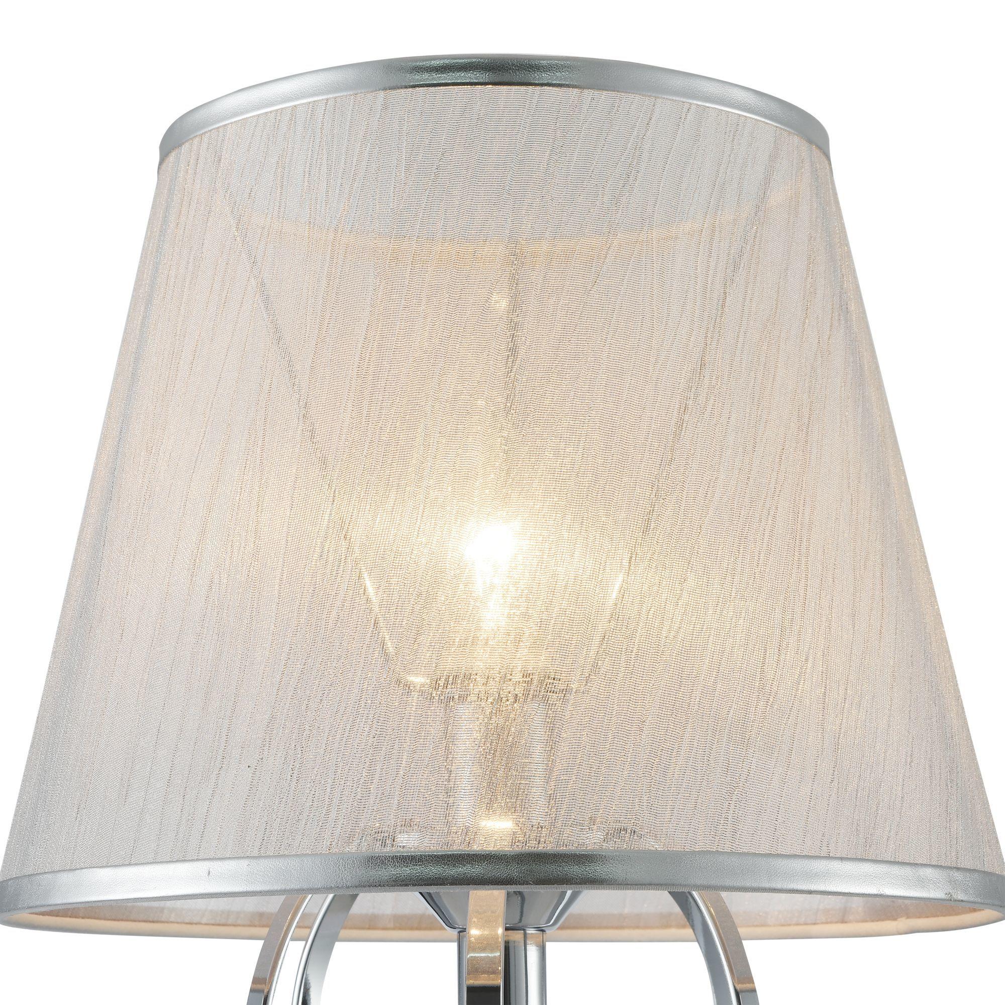 Настольная лампа Freya Simone FR2020-TL-01-CH, 1xE14x40W, хром, серебро, прозрачный, металл, текстиль, хрусталь - фото 9