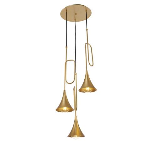 Люстра-каскад Mantra Jazz 6351, золото, металл